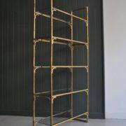 faux-bamboo shelves