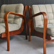 Pair Czech armchairs