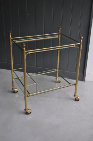 French brass drink's trolley