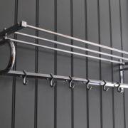 Chrome coat rack