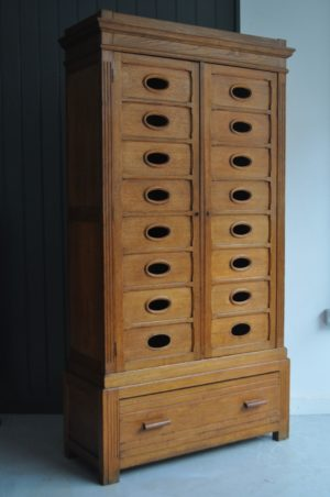 French oak outfitter's cabinet