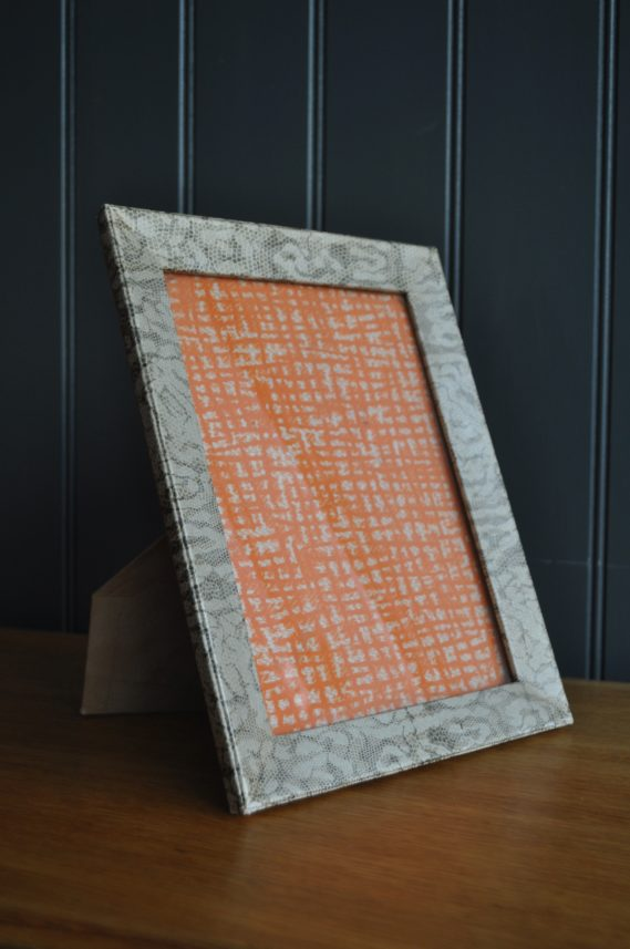snakeskin photo frame