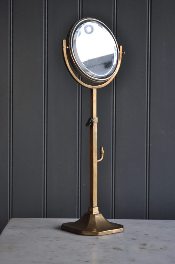 Brass shaving mirror
