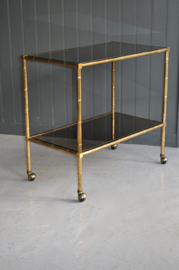Faux bamboo trolley