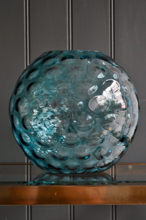 Large blue vase