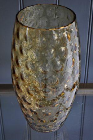 Tall amber vase
