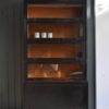 Ebonised bookcase