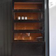 Ebonised bookcase