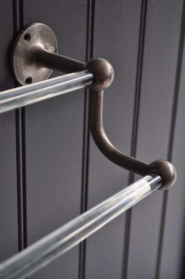 glass towel rail