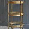 Brass 3-tier trolley