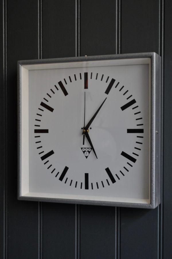 Metal cased clock