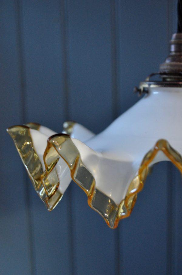 Amber edged pendant