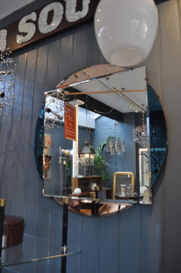 British frameless mirror
