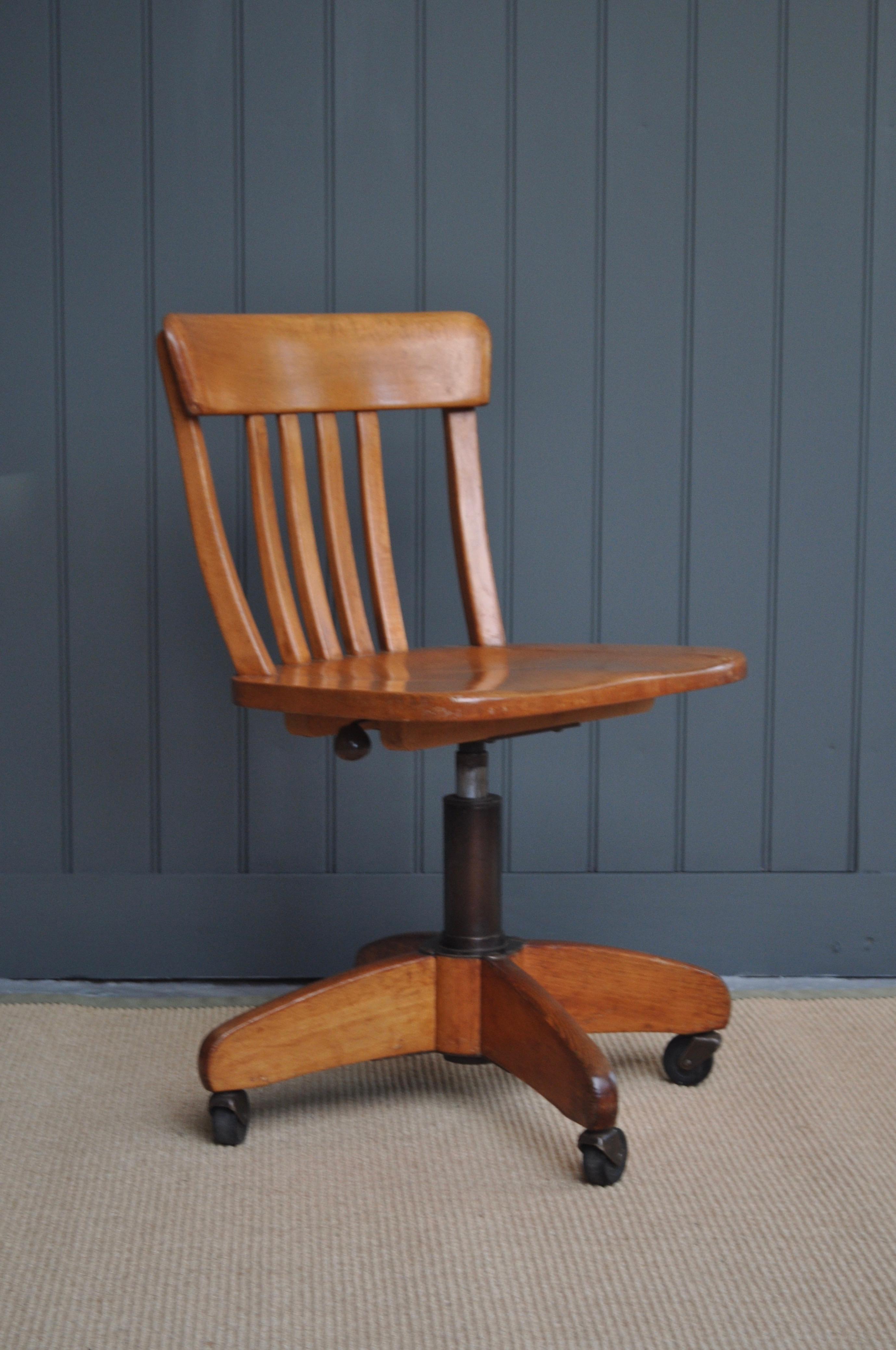 Wooden Desk Chair B Southgate