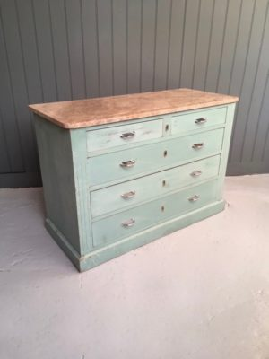 Marble-top chest of drawers