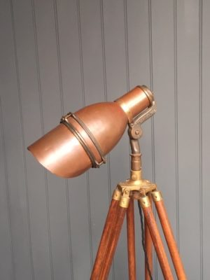 copper tripod lamp