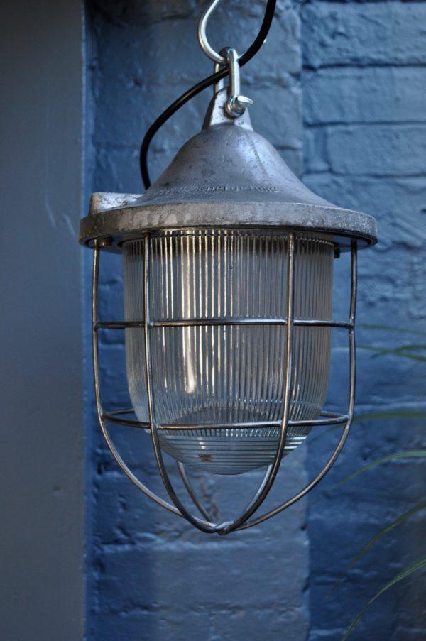 Run of 3 Industrial lamps