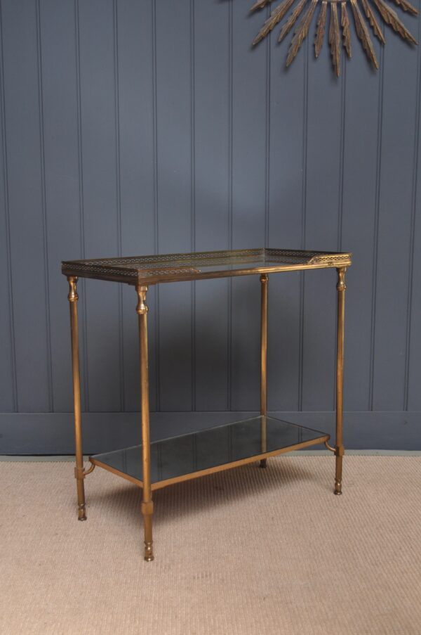 Petite French brass table