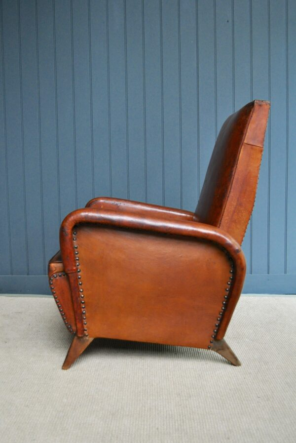 French leather recliner