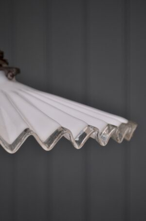 Pleated glass pendant