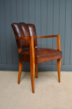French leather bridge chairs