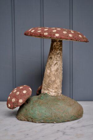 Vintage garden toadstool