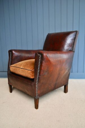 French leather armchair