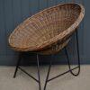 Mid-century wicker chair