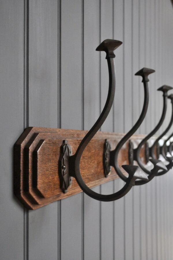 French hooks on oak