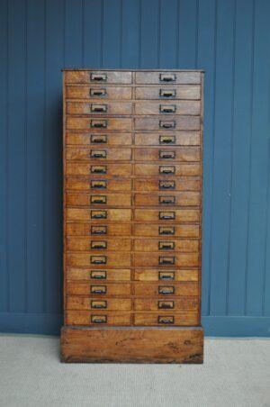 34 drawer oak chest
