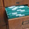16-drawer oak filing cabinet
