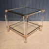 French Lucite side table