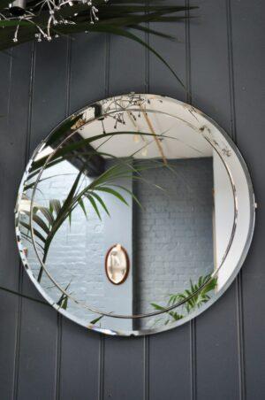 British circular mirror