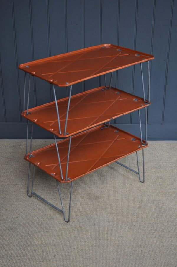 Metal folding shelves