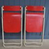 Pair of British folding chairs