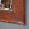English oak-framed mirror