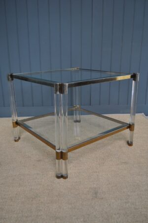 French lucite table