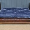 French leather banquette
