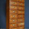 Oak haberdashery drawers