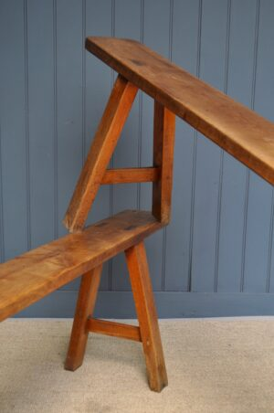 Fruitwood benches