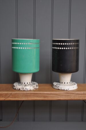 French metal lamps