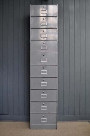 metal fall-front cabinet